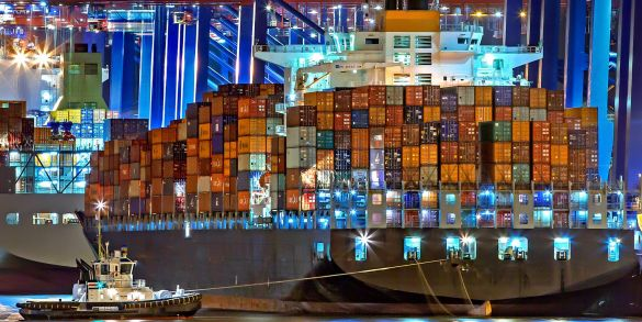 Vessel port